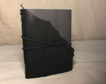 Two tone leather journal (black/grey