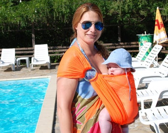 Baby sling ! Baby Water Sling/ Baby Mesh Sling/ Summer baby Sling/ Water Ring Sling/ Baby water Wrap/ Baby Carrier summer/New Mom Gift