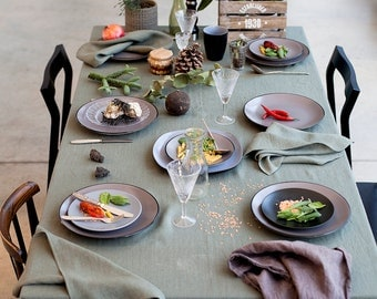 Moss Green Tablecloth/Table Linens/ Dining Accessories