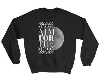 Sweatshirt Motivational Gift Moon