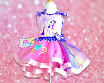 Inspired by Princess Cadence My Little Pony Tutu Dress/Halloween Tutu/Halloween Dress/Halloween Costume/My Little Pony Dress/Pageant Wear