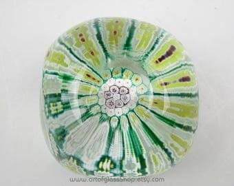 Murano millefiori vintage glass paperweight