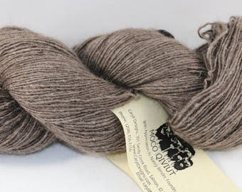 MOCO 100% Qiviut, Natural Lace weight, 50gm/200m 1ply