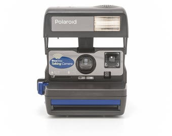 Polaroid OneStep Talking Camera - film Tested - Working vintage 80s Polaroid 600 film Camera