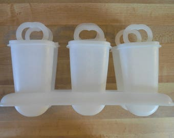 Tupperware popsicle molds vintage complete set popsicle tray frozen pops set freezer pop molds LIKE NEW excellent condition