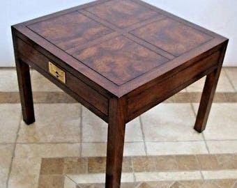 Henredon Furniture Folio 16 Chinese Asian Influenced Style End Table nightstand safe insured nationwide shipping available
