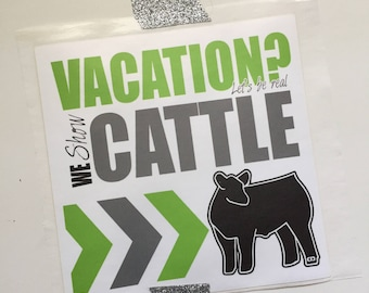 Show Cattle Showbox Sticker