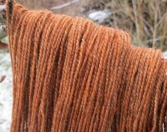 Hand dyed Yarn, 100% Lincoln Longwool,'Bittersweet'