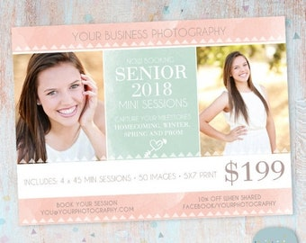 ON SALE Senior Photography Marketing - Photoshop template - IS006- Instant Download