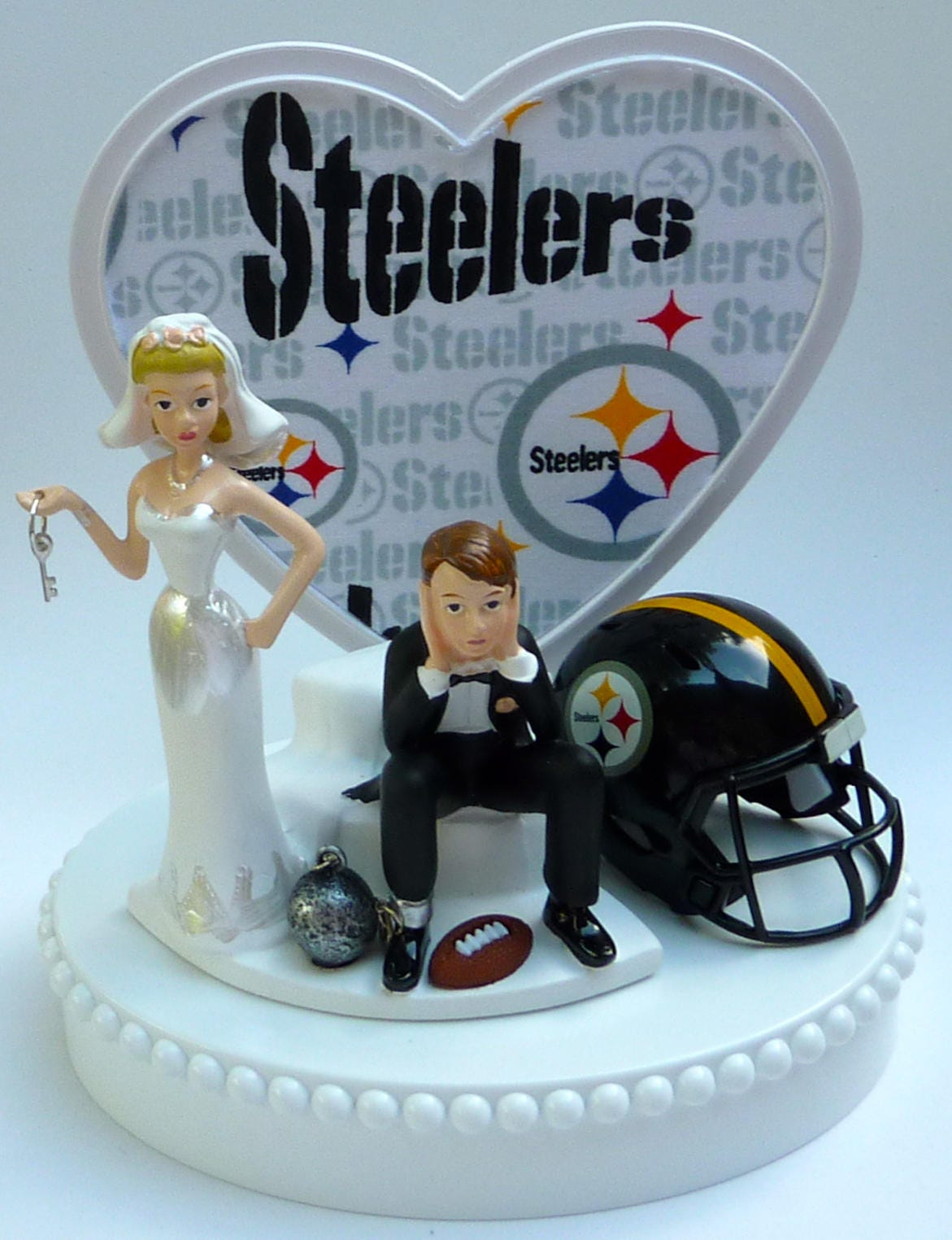 pittsburgh steelers wedding cake topper wedding cake topper pittsburgh steelers football themed 18624