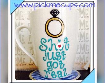 Mature Engagement I'm Engaged Wedding Gift Bachelorette Party Bridal Shower Coffee Mug wedding shower gift Gifts for the bride- Bridal Party