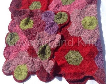 Ready to ship, knitted blanket, warm, handmade, Icelandic wool and Einband, kids, knit, afghan, blanket, throw, lap, wheelchair