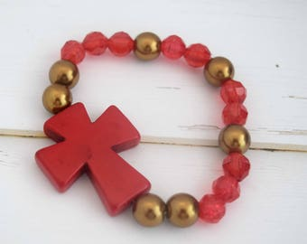 Small Cross Gift   Best Friend Bracelet, Bracelet For Best Friend, Christian Bracelet Jewelry, Gift For Christian Women, Gift For Mom