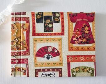 Kimono notebook, Notebook japanese handmade bookbinding, notebook, travel notebook, stationery, sketchbook