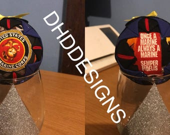 Marine Corps Dress Blues Ornament/ Rearview Mirror Hanger