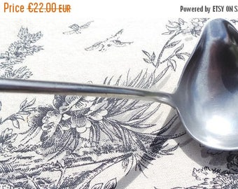 Summer Sale 15% Off Antique Fine French Pewter Ladle Spoon N & C  France Pewter of Paris France Good Condition Sauce Ladle