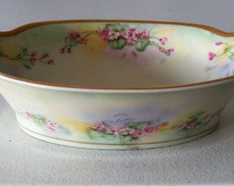 Theodore Haviland Limoges France  M COON Handled Bowl