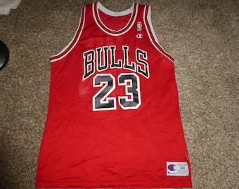 Vtg Michael Jordan Chicago Bulls NBA Champion Jersey Sz Men's 48 XL