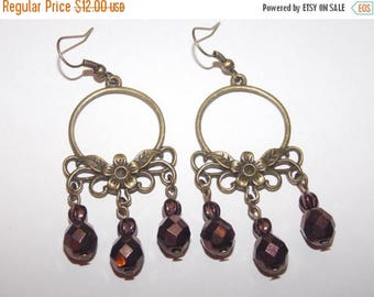 Gold Chandelier EarringsTeal Jewel Bohemian Wedding Boho