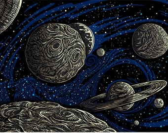 3D Galactic Space Tapestry 60 x 90 Universe wall hanging