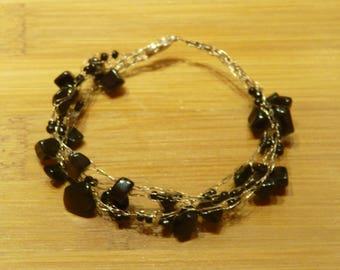 Crochet Black Onyx bracelet