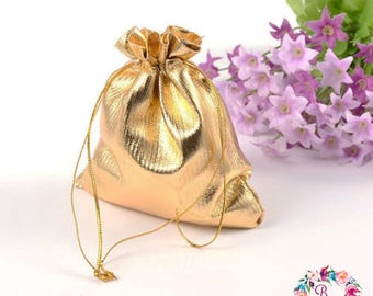 Gold Drawstring Pouches 4th July Wedding Party Favor Bags Gift Bags Organza Bags Jewelry bags  Gift Pouch DIY Supplies and Accessories