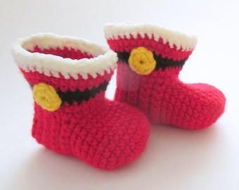 Santa Booties PDF Crochet Pattern INSTANT DOWNLOAD