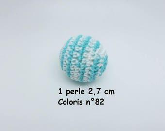 1 Pearl colour No. 82 in crochet cotton (2.7 cm)