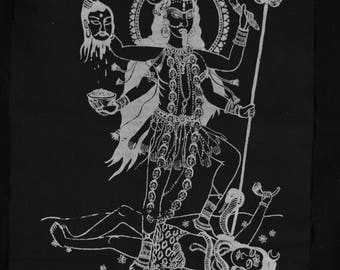Kali Shiva tantric big backpatch