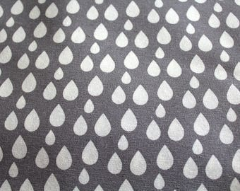 Upholstery fabric drops grey 70 x 50 cm