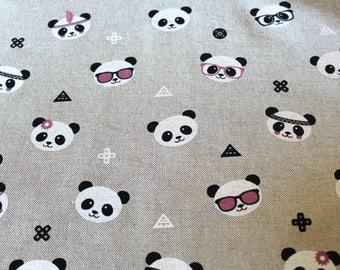 Fabric upholstery 50 x 70 cm pandas