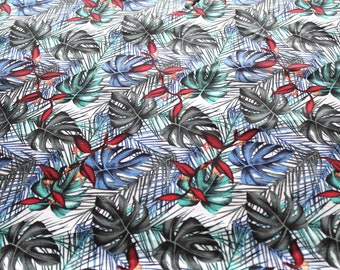 Tropical fabric coupon colorful 50 x 70 cm