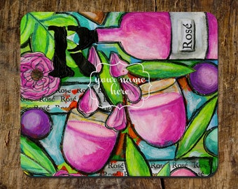 Mousepad, Wine Mousepad, Office Mousepad, Office Supplies, Office  Accessory, Preppy Mousepad
