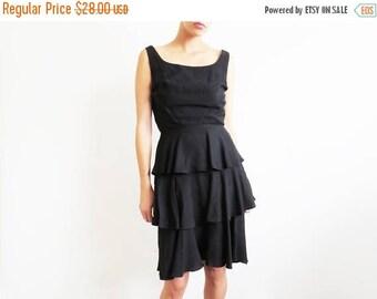 SALE Black 1960s Dress // Small Little Black 60's Audrey Hepburn Dress // Vintage Women's Clothing