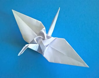 12 Origami Rose Crane , White Rose Crane, Wedding decoration