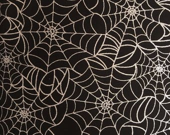 halloween fabric by the yard spider web fabric metallic fabric 17163 - Halloween Lace Fabric