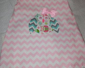 Owl chevron dress