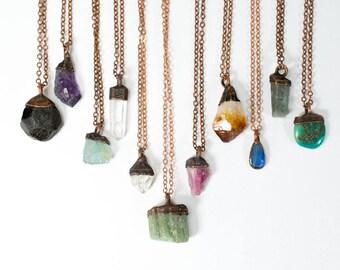 Birthstone Necklace | Birthstone Jewelry | Raw Crystal Necklace | Raw Birthstone Jewelry | Alternative Birthstones | Birth month jewelry
