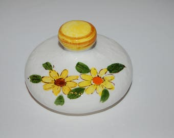 1976 Vintage Retro Sears Roebuck and Co. SMALL LID ONLY Japan Yellow Daisy