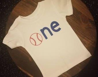 Baseball (ONE) 1st Birthday Shirt