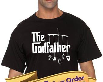 shirt for godfather, gift for godfather  |  baptism shirt  |  asking godparents