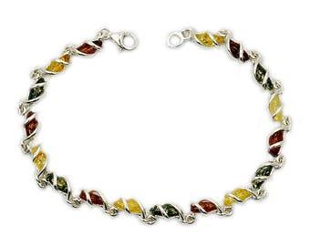 Summer Romance Baltic Amber Bracelet Jewelry & Sterling Silver Bracelet AE323  The Silver Plaza