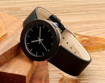 Wooden watch, quartz watch, lady whatch,sportiv,dark brown