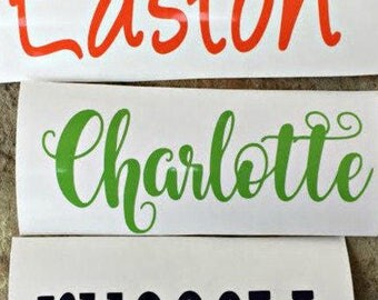 PERSONALIZED NAME DECAL - Vinyl Name Decal - Monogram Cup Decal - Name Decal - Name Sticker - Personalized Vinyl Name Decal