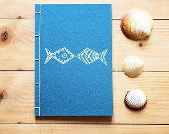 Sea fish journal,  sea notebook, fish lover diary