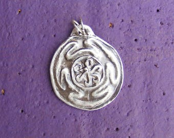 Hekate's Wheel, Silver Pendant, Hekate, Hecate, Strophalos, Spiritual, Wicca, Wiccan, Witch, Pagan, by the Green Man