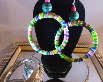 Colored Hoop Earrings. FREE SHIPPING!