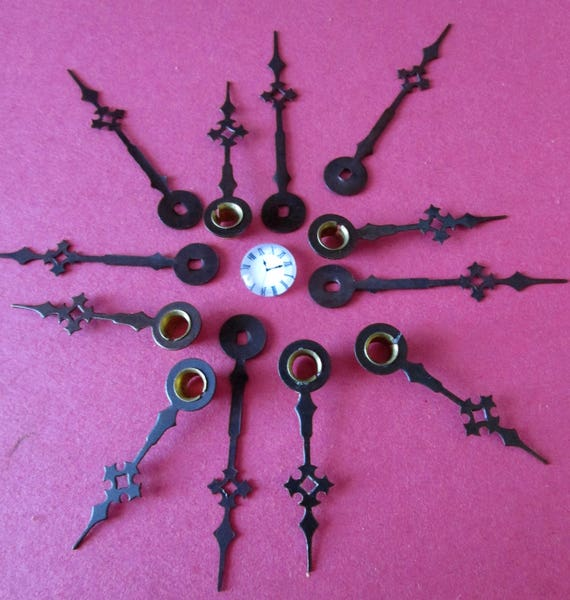 6 Pairs of New Bronze Maltese / Gothic Style Clock Hands for your Clock Projects, Jewelry Making, Steampunk Art