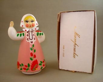 Vintage old Rare Russian Soviet Hard plastic Dancing Doll  - USSR - New in Box - Never used