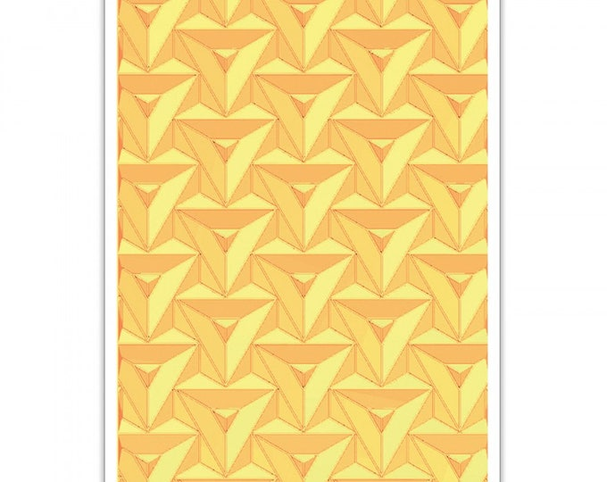 New! Sizzix 3-D Textured Impressions Embossing Folder - Prism Geometrics 661951